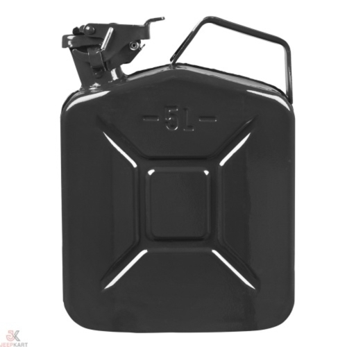 Fuelmate 5L Black Metal Jerry Can