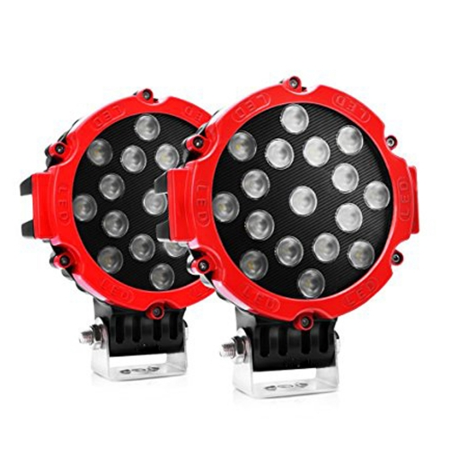 Round LED Light -17 LED (2 Pair)-7 Inch