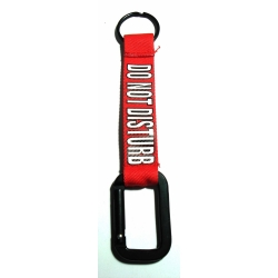 Buy Carabineer Fabric Keychain  Do Not Disturb Red Online
