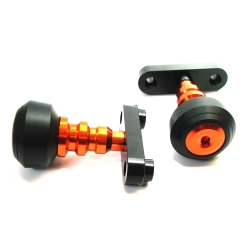 Ktm Duke Frame Sliders - 200/390 Orange/Blk