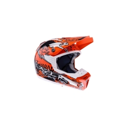 Buy LAZER SMX Dirty Motocross Helmet - Orange+White+Black Online