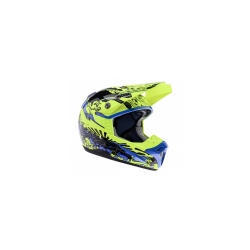 Buy LAZER SMX Dirty Motocross Helmet - Yellow Flourescent+Lilac+Black Online