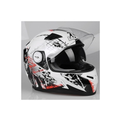 Buy LAZER Bayamo Pit Bull Helmet - White+Black+Red Online