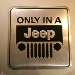 Buy Only In a Jeep Decal Online