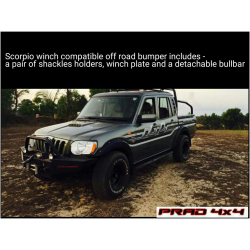 Buy Mahindra Scorpio Front Winch Compatible Bumper - SFW01 Online