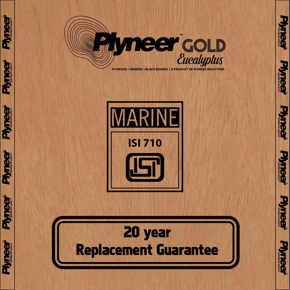 Plyneer Gold B.W.P Pinewood Waterproof Block Board - 15 Years Replacement Guarantee*
