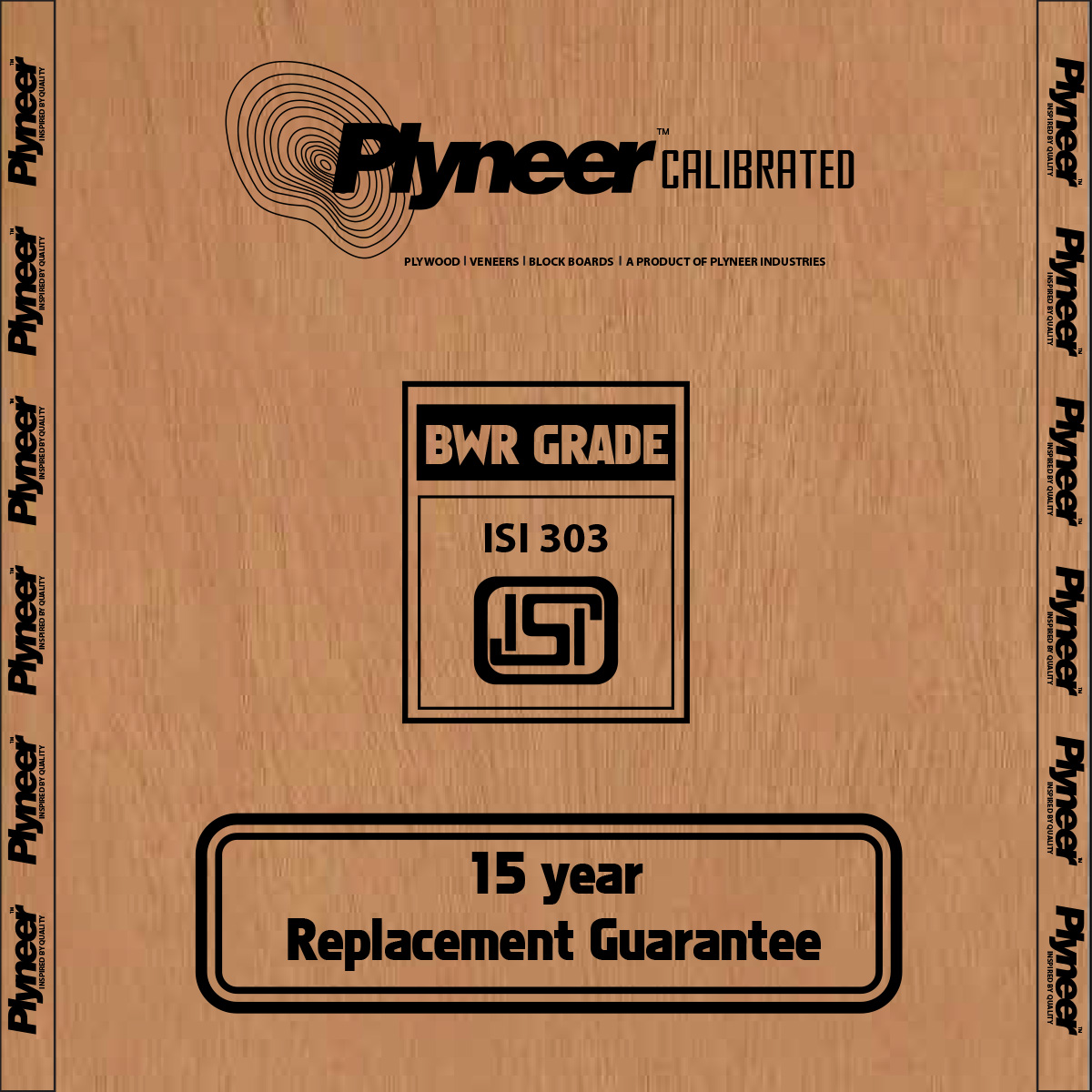 Plyneer Calibrated B.W.R. Water Resistant Plywood - 15 Years Replacement Guarantee*