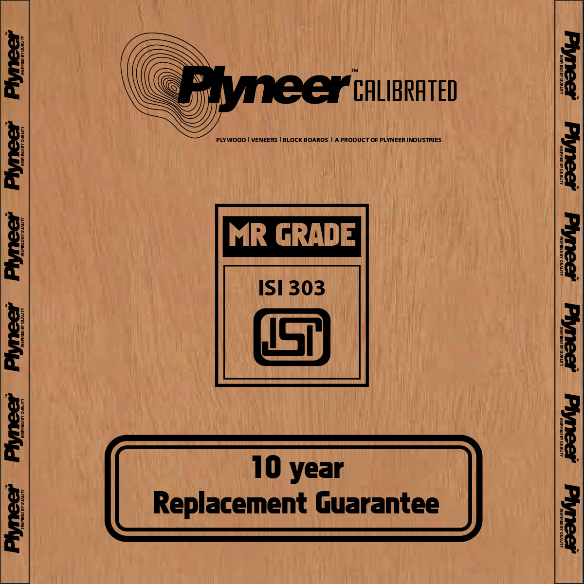 Plyneer Calibrated M.R.Commercial Plywood - 10 Years Replacement Guarantee*