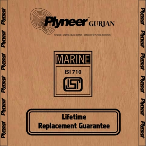 Plyneer Gurjan Marine B.W.P Waterproof Plywood - Lifetime Replacement Guarantee*