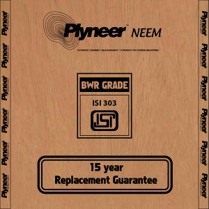 Plyneer Neem B.W.R Water Resistant Plywood - 15 Years Replacement Guarantee*