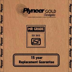 Plyneer Gold M.R. Eucalyptus Commercial Plywood - 15 Years Replacement Guarantee*